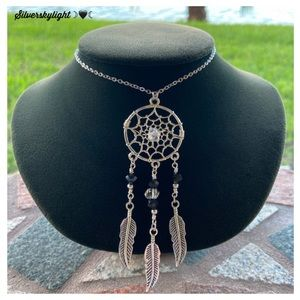 Herkimer diamonds black crystal dream catcher